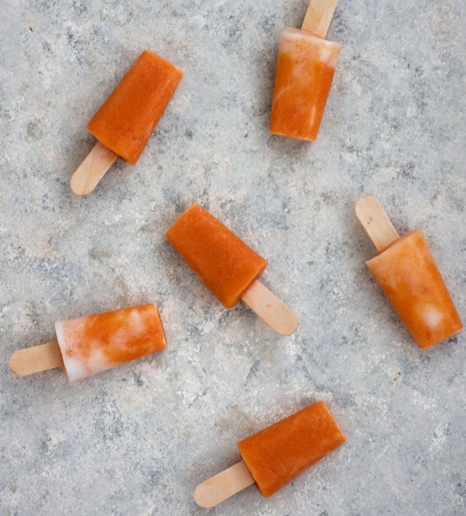 4-ingredien tPeaches and cream popsicles