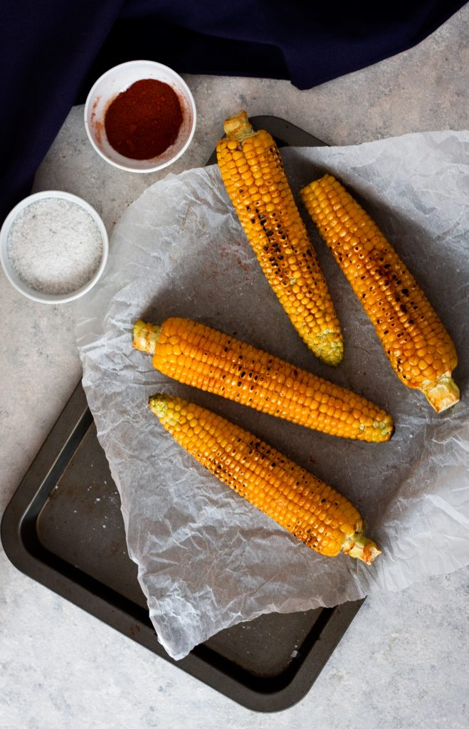 Oven-roasted corn