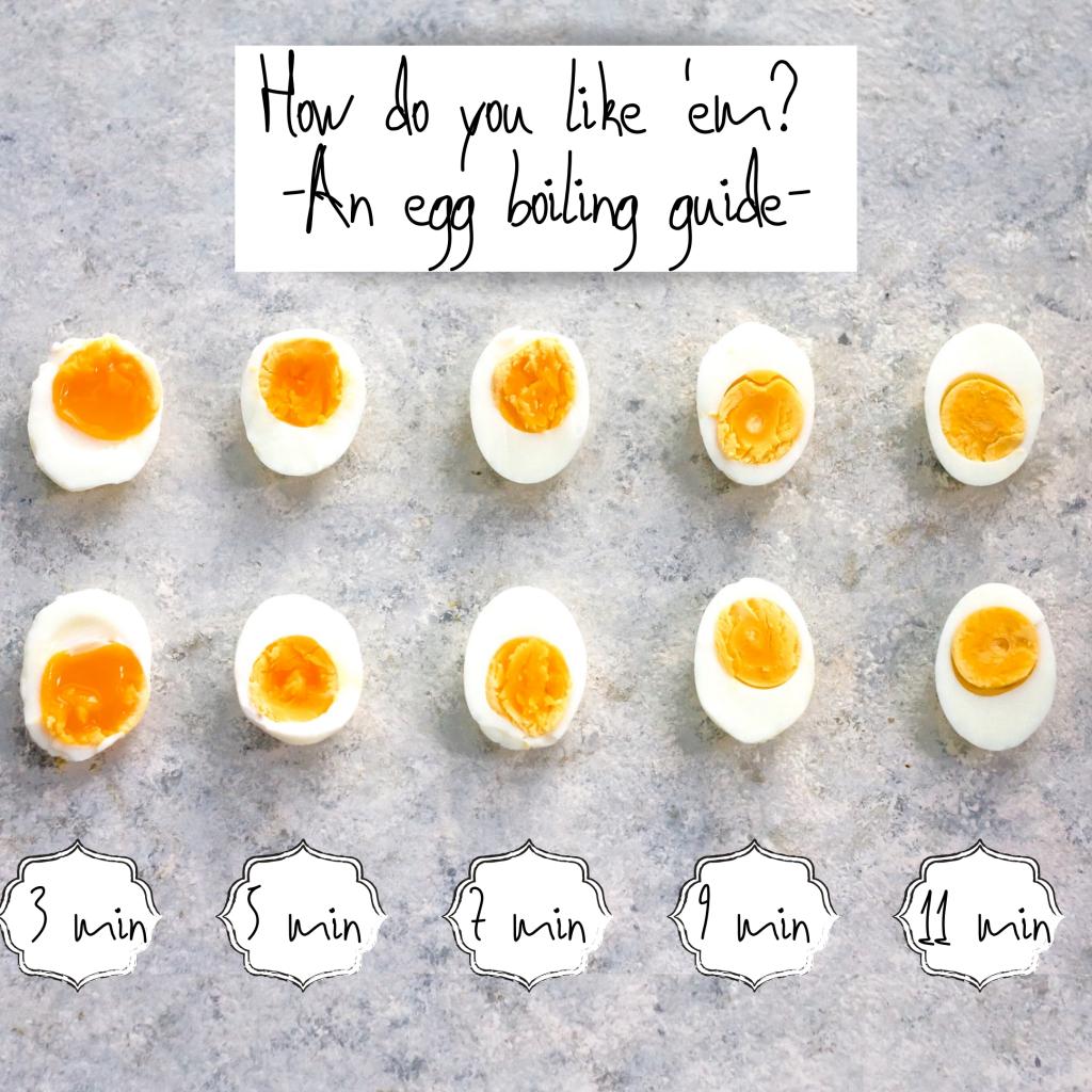 Egg boiling guide