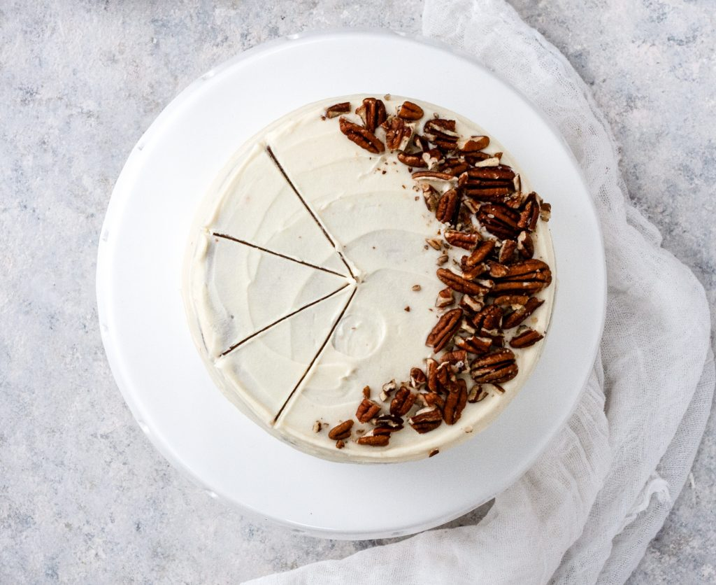 Carrot Cake with cream cheese white chocolate frosting