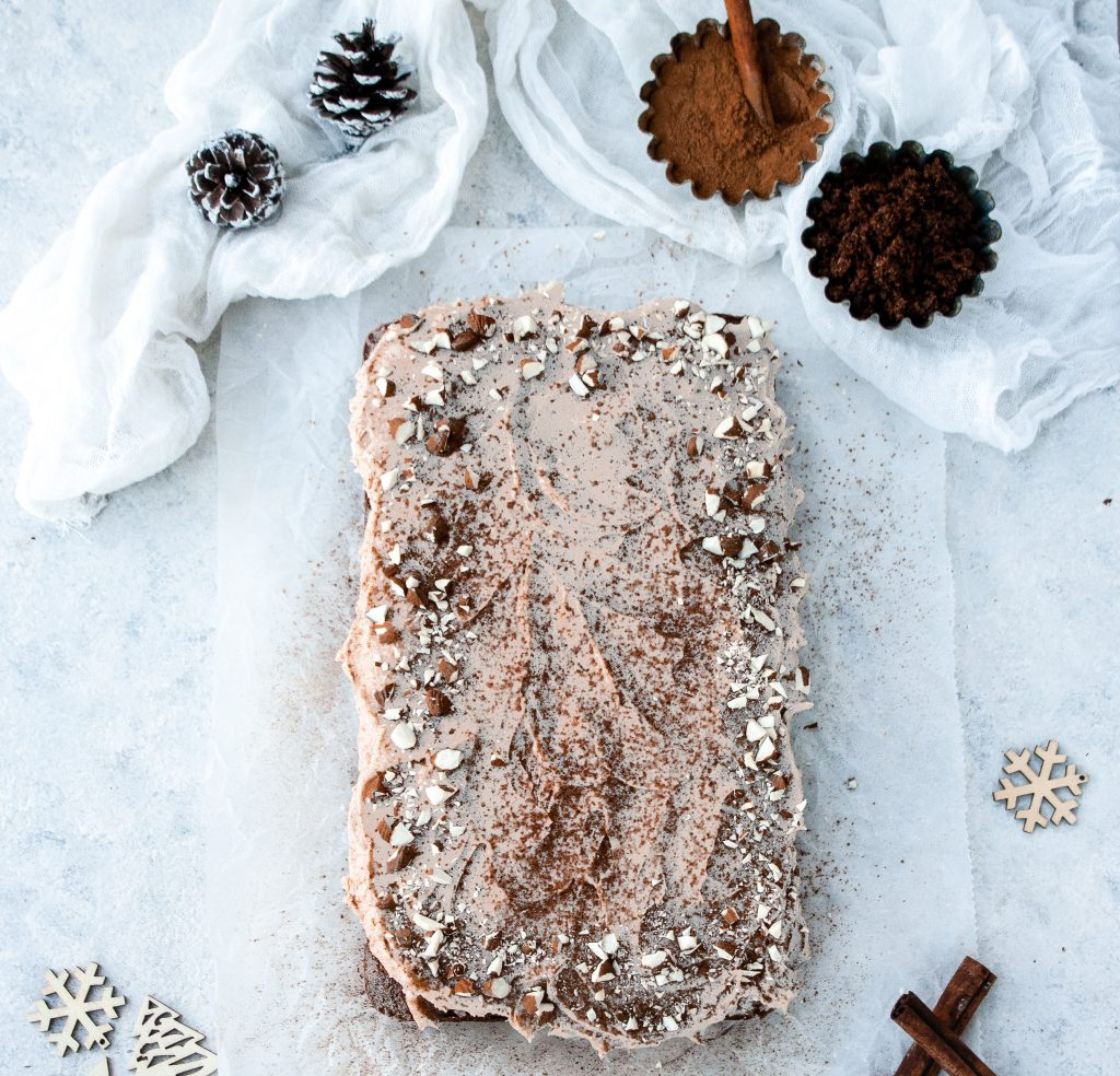 Gingerbread Sheet Cake with Cinnamon Buttercream